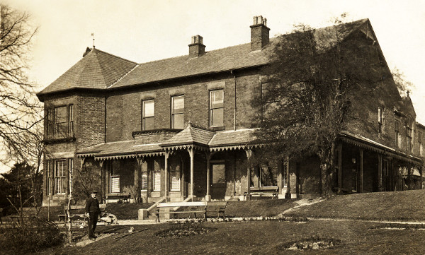 A photo of Werneth Lodge taken when it was a private home.